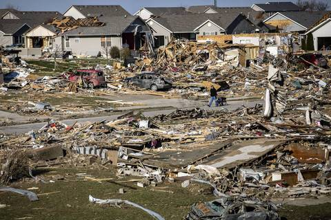 Debris is everywhere in Washington, Ill.