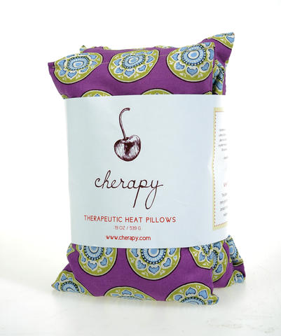 Made by a Howard County woman, Cherapy neck pillows can be heated or chilled to soothe muscles. These cherry-pit filled-pillows are available in a variety of prints. $30 at Nest.