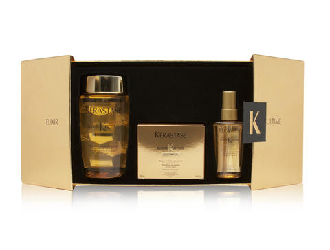 Kerastase Elixir Ultime gift set gives hair the ultimate holiday shine. $105 at About Spaces Day Spa & Salon