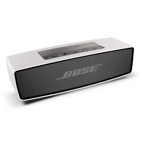 At just 1.5 pounds, the SoundLink mini speaker from Bose is a portable, wireless sound system that goes wherever you go. In silver (shown), orange, green or blue. $224.90 at Bose.