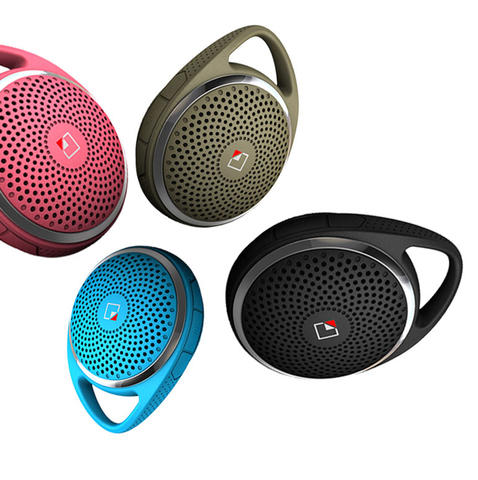 WhiteLabel's new SoundDew speaker system has a built-in hook clasp, water-resistant casing and Bluetooth capabilities. $49.90 at amazon.com.