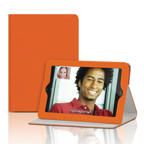 Merkury Innovations iPad Mini folio case is a fitted portfolio case with multiple viewing angles including portrait, typing, and movie. $29.99 from Kohls.