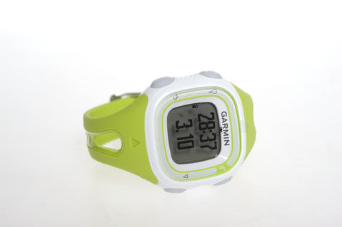 The Garmin Forerunner watch tracks a runner's pace, distance and calories burned. $130 at Charm City Run.