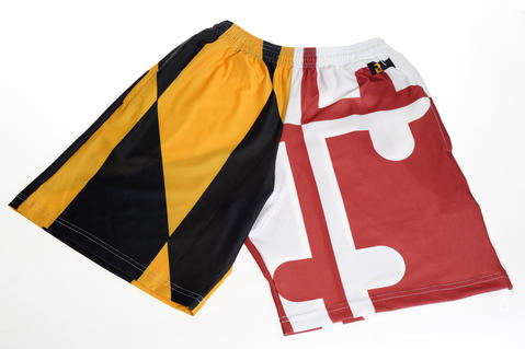 Lacrosse shorts show their allegiance to Maryland. $44 at Lax World