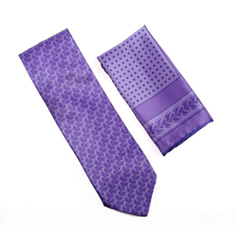 Italo Ferretti tie and pocket square set. $275 at Gian Marco Menswear.