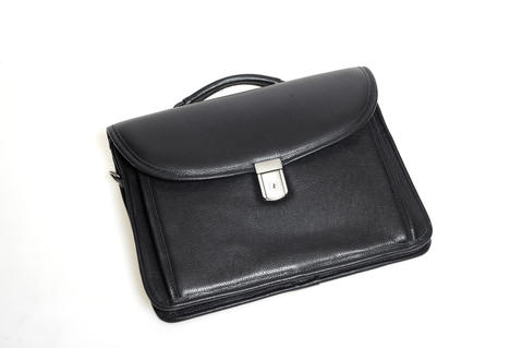 Go in style with this timeless lamb skin business case suitable for a laptop or tablet. $550 at Gian Marco Menswear in Baltimore.