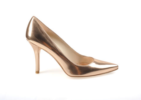 Drew Barrymore, Julianne Hough and Emily Blunt are among the stars that have been sighted in Stuart Weitzman pumps. This rose gold version sells for $330 at Sassanova.
