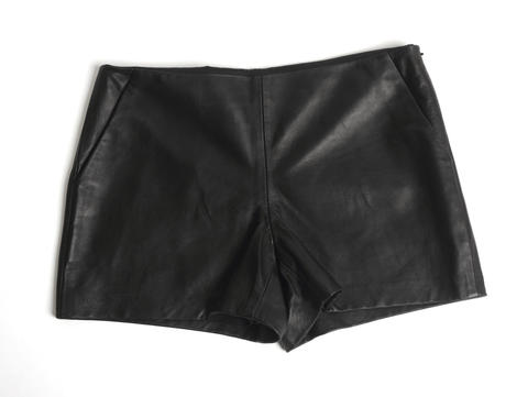 Two things you need to know about the latest trend in shorts: They need to be high-waisted, and they need to be leather. See Taylor Swift, Gwyneth Paltrow and Beyonce, to name a few. Panache has this design from Trina Turk for $478.