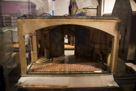 """A room section on display from """"Colleen Moore's Fairy Castle"""" at the Museum of Science and Industry."""