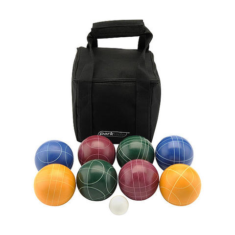 Start up a game that's fun for everyone with this Parkside bocce ball set, with carrying bag. $59.99 at Sports Authority