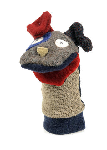 An ideal gift for a family with young children, stuffed animals and puppets from Cate & Levi -- including a monkey, platypus, and dog -- are made from recycled sweaters. $60 and $25 at Nest