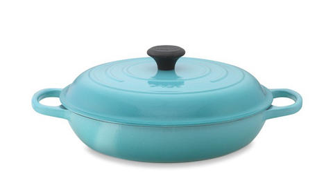 This Le Creuset Signature Braiser, with its tight-fitting lid, helps food retain moisture and merge juicy and tender. The enameled cast-iron cookware is $240 at Williams-Sonoma
