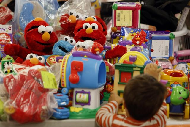 "8. Elmo/Big Hugs Elmo. The toy also made it onto Toys R Us' ""Fabulous 15"" list of playthings for 2013."