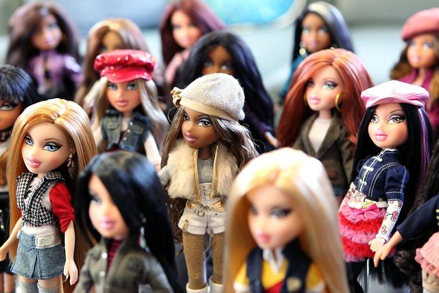 2. Dolls (in general.) Pictured are Bratz dolls.