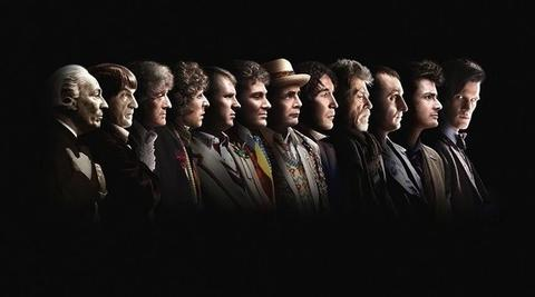 """BBC has updated the 50th anniversary image to include John Hurt's War Doctor (fourth from right), but not Perter Capaldi's upcoming Doctor. We'll be debating whether the War Doctor is now the Ninth Doctor, moving everyone after back one number. Show exec producer and head writer says in Doctor Who Magazine the numbers stay the same. """"I've been really, really quite careful about the numbering of the Doctors. He's very specific, the John Hurt Doctor, that he doesn't take the name of the Doctor. He doesn't call himself that. He's the same Time Lord, the same being as the Doctors either side of him, but he's the one who says, 'I'm not the Doctor.' So the Eleventh Doctor is still the Eleventh Doctor, the Tenth Doctor is still the Tenth..."""" Begging your pardon, Mr. Moffat, but at the end of """"The Day of the Doctor,"""" Matt Smith's Doctor does call him """"Doctor."""" And after the War Doctor says he won't remember trying to save Gallifrey, """"for now, for this moment, I am the Doctor again. Thank you."""" So, technically, the numbers should change. Right?"""