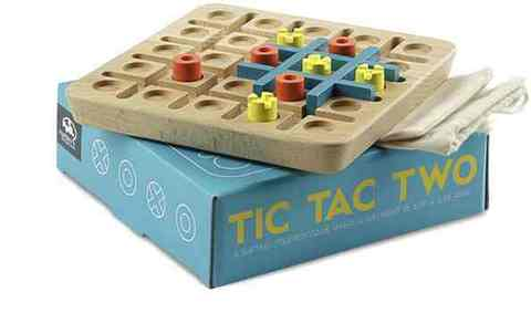 Tic-Tac-Toe times two -- `tis terrific! $19.99 at marblesthebrainstore.com