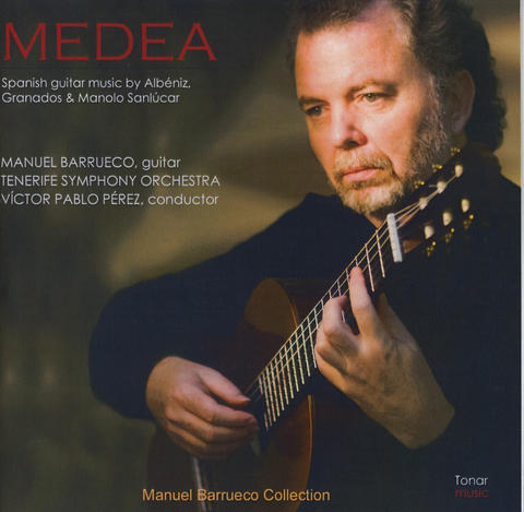 "Peabody Conservatory faculty member Manuel Barrueco, one of the world's foremost classical guitarists, can be heard on the new recording ""Medea,"" released on the Timonium-based Tonar label. It opens with impeccable, elegant performances of solo pieces by Albeniz and Granados. The title track, a colorful suite for flamenco guitar and orchestra by Manolo Sanlucar based on the Greek legend, showcases Barrueco's vibrant styling, smoothly backed by the Tenerife Symphony."