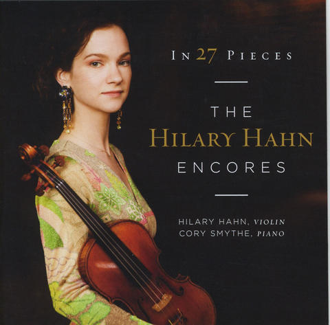 "The stellar, Baltimore-raised violinist Hilary Hahn has a great new, two-disc release from Deutsche Grammophon, ""In 27 Pieces."" This is the culmination of Hahn's remarkable project to boost the repertoire of violin encores with more than two dozen freshly commissioned pieces.   Composers old and young responded with an exceedingly wide range of ideas, producing quite the showcase for Hahn's prodigious technique and musicality. She is partnered on the recording by the excellent pianist Cory Smythe. Highlights include exquisitely lyrical reflections by Somei Satoh, David Del Tredici and Max Richter; and prismatic flights crafted by Jennifer Higdon, Jeff Myers and Nico Muhly."