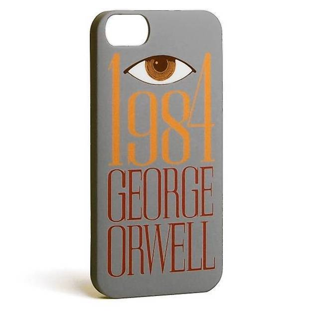 "Decorate Big Brother's listening device -- er, your cell phone -- with this ""1984"" hard shell iPhone 5 Case. ($25, bit.ly/1jsUE7d)"