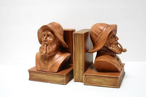 Aye matey, keep your books standing with these Vintage Old Salt Sea Captain bookends from Creek Life Treasures on Etsy. ($46, etsy.me/1fdLfmB)