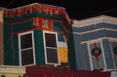 A new addition to Hampden's 34th Street lights display