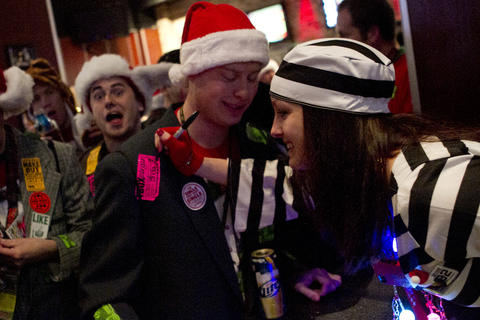 Costumed crawlers parties through Wrigleyville Dec. 8 at the annual TBOX bar crawl. Find more holiday parties here.