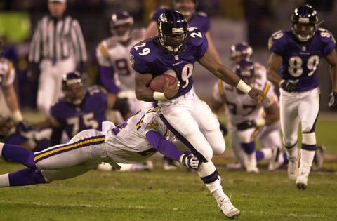 Ravens running back Terry Allen rushed for a season-best 133 yards in the game.
