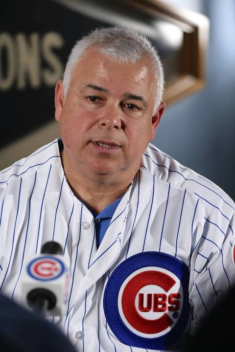 New Cubs manager Rick Renteria at Wrigley Field.