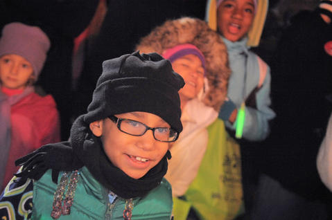 Amariyah Guerra, 7, from Boston, attended the 39th annual lighting of the Washington Monument.