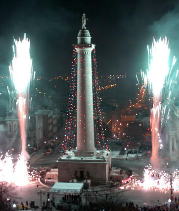 The 36th lighting of the Washington Monument