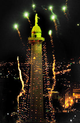 The 35th lighting of the Washington Monument