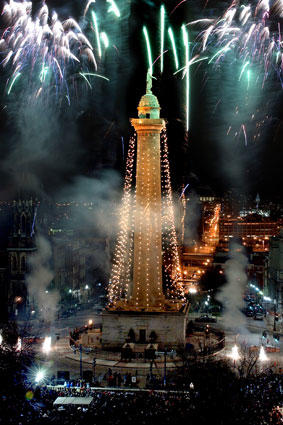 The 32nd annual lighting of Baltimore's Washington Monument.