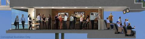 Shown here are ideas for the expanded luxury suites.
