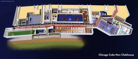 Shown here are ideas for the new Cubs clubhouse.