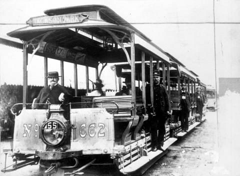 Chicago Jackson Park cable car. No date.
