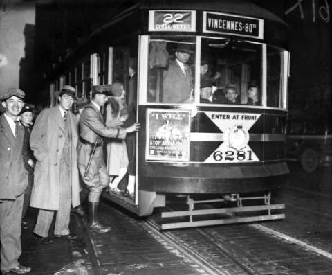 New streetcar, ca. Oct. 3, 1929.