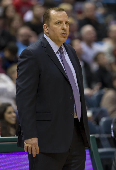 Bulls coach Tom Thibodeau during the second quarter.
