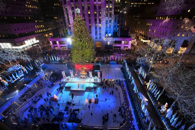 The tree is seen during the 81st Annual Rockefeller Center Christmas Tree Lighting Ceremony in New York December 4, 2013.