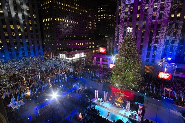 The tree is seen during the 81st Annual Rockefeller Center Christmas Tree Lighting Ceremony in New York, December 4, 2013.
