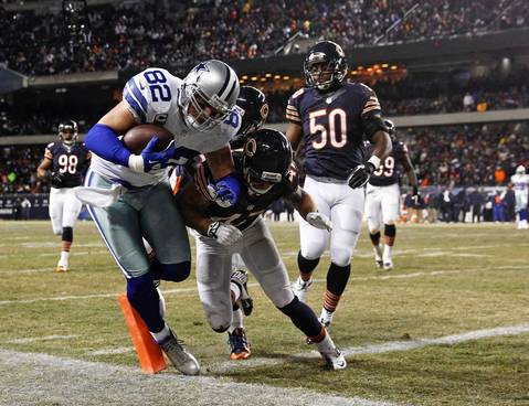 BRIAN CASSELLA: I liked this angle from the corner of the end zone as Jason Whitten scored an early touchdown for the Cowboys. Of course, with the Bears great offensive performance it didn't mean anything a few hours later.