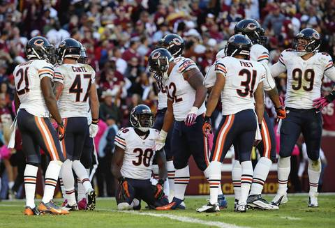 Brian Cassella: The Bears defense looked gassed much of the second half, and their reaction after giving up the game-winning touchdown to the Redskins told the story of this loss. The Chicago Bears defense reacts after allowing the game-winning touchdown to Washington Redskins running back Roy Helu in the fourth quarter.