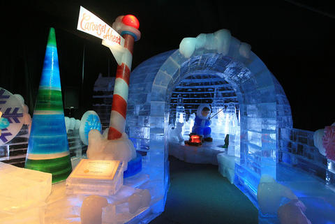"Igloo (""Chip's Polar Lair"") at the Gaylord Palms' ICE attraction."