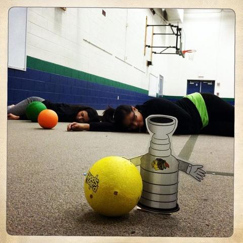 Rough day at camp! Flat Stanley Cup = 2, Camp Counselors = 0