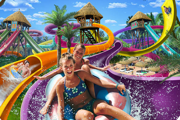 The Seville theme park will add a $6.5-million water park with a wave pool and slides.