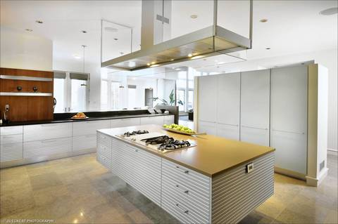 The Kitchen Inside Michael Jordans 56000 Square Foot Highland Park Estate Which Goes Up For