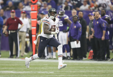 Alshon Jeffery on his way to an 80-yard touchdown during the third quarter.