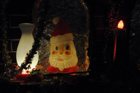 Lighted Santa.