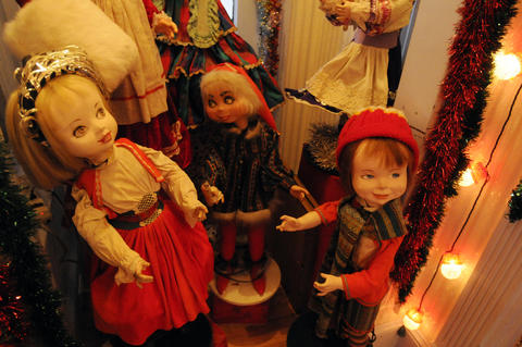 More Christmas dolls.
