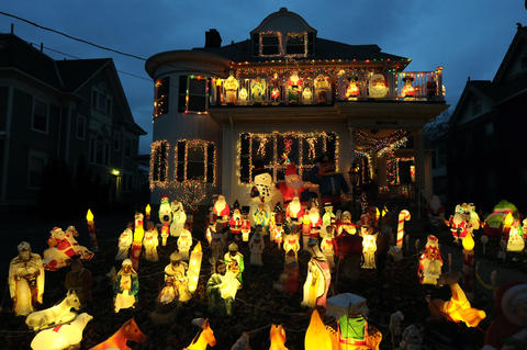 Rita Giancola, 87, has been decorating her house as New Britain's 'Christmas House' every year since 1978.