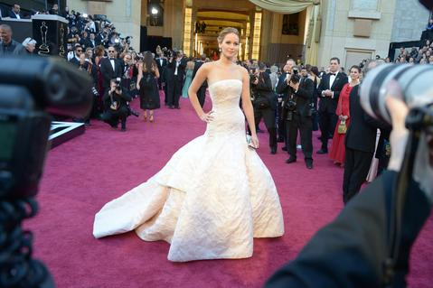 Who cares if she fell up the stairs to claim the big prize! Her Dior Haute Couture ball gown was a dream.